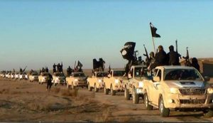 ISIL convoy hit in Samarra, 200 vehicles destroyed: Video
